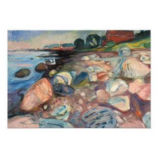 Edvard Munch - Shore with Red House Photo Art