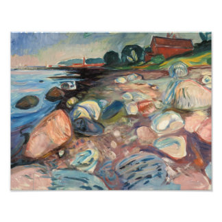 Edvard Munch - Shore with Red House Photo Print