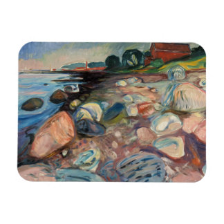 Edvard Munch - Shore with Red House Rectangular Photo Magnet