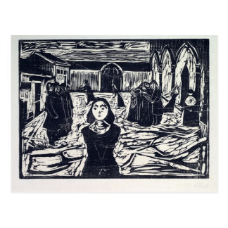 Edvard Munch The Pretenders The Last Hour Postcard