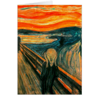EDVARD MUNCH - The scream 1893 Card