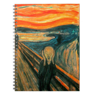 EDVARD MUNCH - The scream 1893 Spiral Notebook
