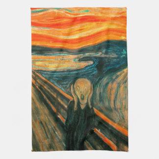 EDVARD MUNCH - The scream 1893 Tea Towel