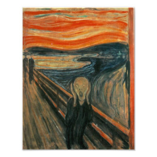 Edvard Munch - The Scream Photo Art