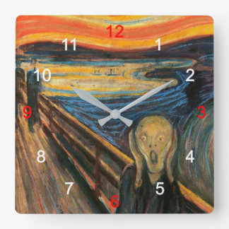 "Edvard Munch, ""The Scream"" Wall Clock"