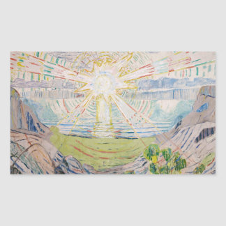 Edvard Munch - The Sun Rectangular Sticker