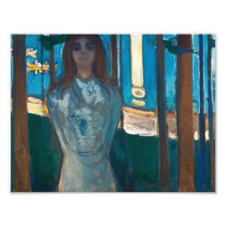 Edvard Munch - The Voice , Summer Night Photo Art