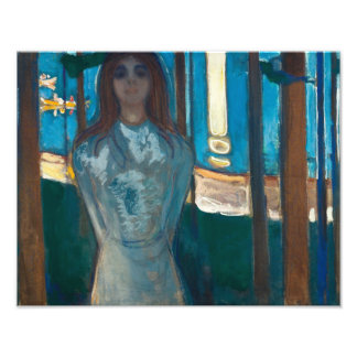 Edvard Munch - The Voice , Summer Night Photographic Print