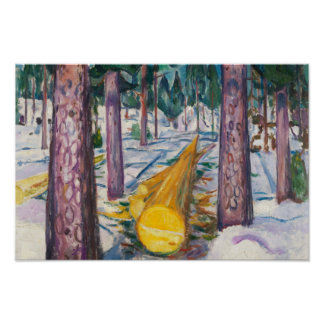 Edvard Munch - The Yellow Log Poster