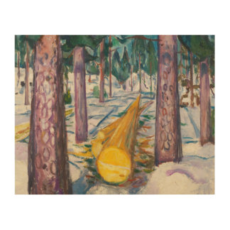 Edvard Munch - The Yellow Log Wood Canvas