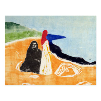 Edvard Munch Two Women on the Shore Postcard