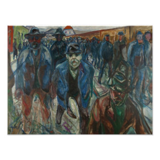 Edvard Munch - Workers on their Way Home Photo