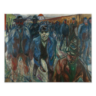 Edvard Munch - Workers on their Way Home Photographic Print