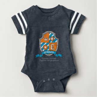 Edward boys E name & meaning boys coats of arms Baby Bodysuit