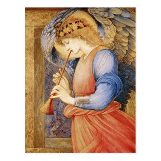 Edward Burne-Jones - An Angel Playing a Flageolet Postcard