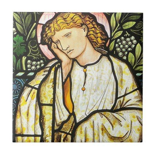 Edward Burne-Jones ceramic tile