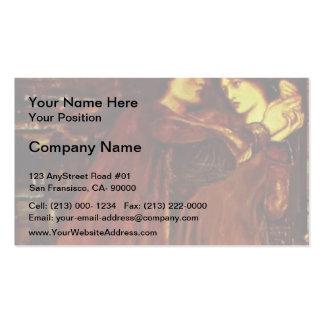 Edward Burne-Jones- Clerk Saunders Business Card Templates