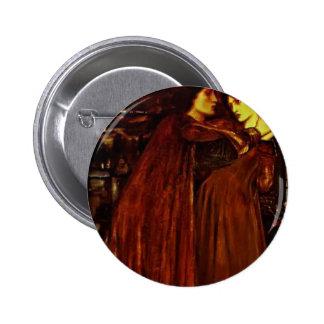 Edward Burne-Jones- Clerk Saunders Pinback Buttons