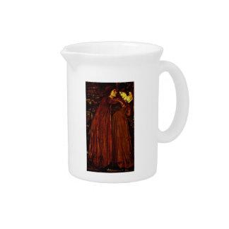 Edward Burne-Jones- Clerk Saunders Drink Pitchers