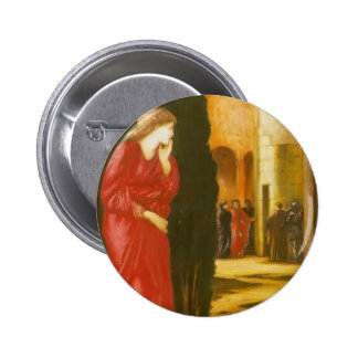 Edward Burne-Jones Danae and the Brazen Tower Pinback Button