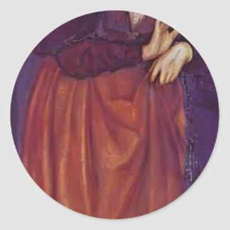 Edward Burne-Jones Fatima Round Stickers