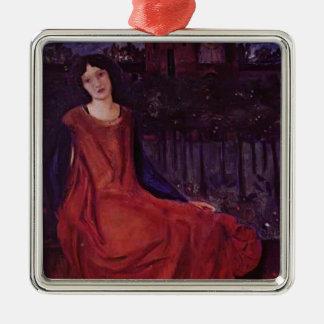 Edward Burne-Jones: Girl and Goldfish Christmas Ornament