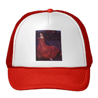Edward Burne-Jones: Girl and Goldfish Mesh Hats