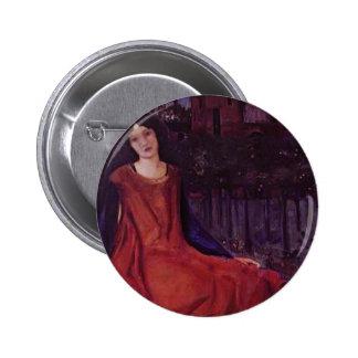 Edward Burne-Jones Girl and Goldfish Pin