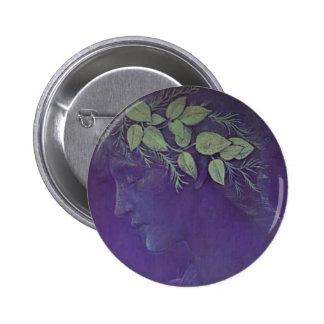 Edward Burne-Jones- Girl s Head Pinback Button