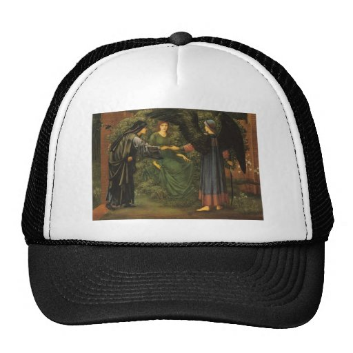 Edward Burne-Jones- Heart of the Rose Trucker Hats