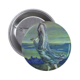 Edward Burne-Jones Hesperus The Evening Star Pinback Buttons