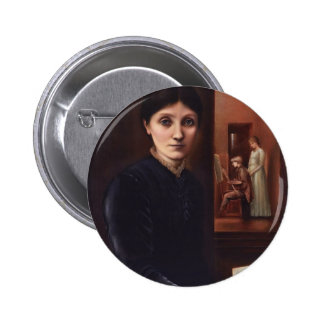 Edward Burne-Jones his family in the background Pins