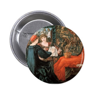 Edward Burne-Jones- Laus Veneris Pinback Buttons