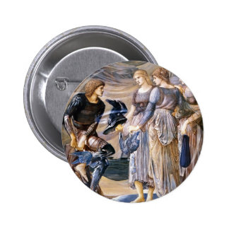 Edward Burne-Jones- Perseus and the Sea Nymphs Pinback Buttons