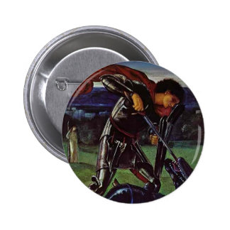 Edward Burne-Jones- St George and the Dragon Pinback Buttons