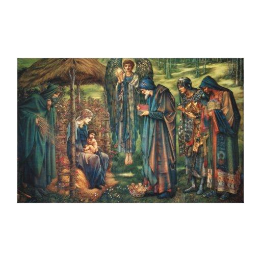 Edward Burne-Jones: Star of Bethlehem Stretched Canvas Print