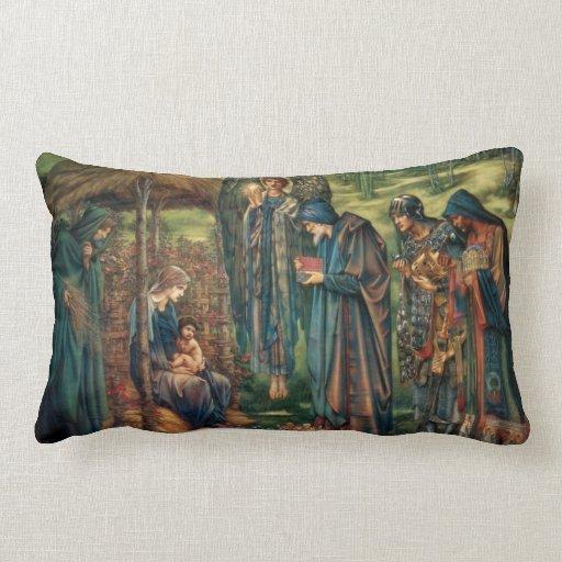 Edward Burne-Jones: Star of Bethlehem Throw Pillow