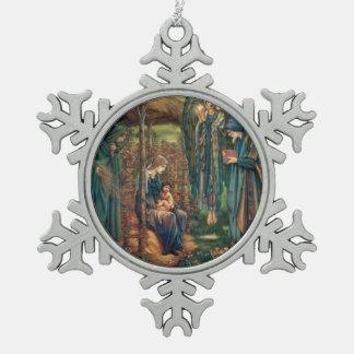 Edward Burne-Jones: Star of Bethlehem Pewter Snowflake Decoration
