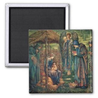 Edward Burne-Jones: Star of Bethlehem Square Magnet