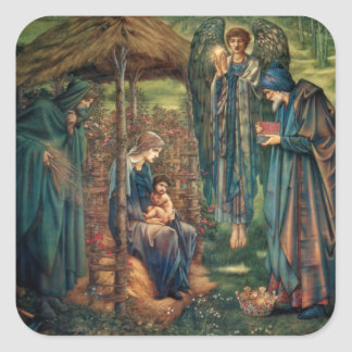 Edward Burne-Jones: Star of Bethlehem Square Sticker