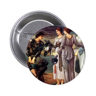 Edward Burne-Jones- The Arming of Perseus Pinback Button