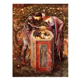Edward Burne-Jones- The Baleful Head Postcard