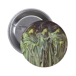 Edward Burne-Jones-The Challenge in the Wilderness Pinback Buttons