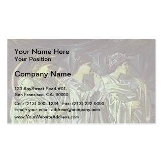 Edward Burne-Jones-The Challenge in the Wilderness Business Card