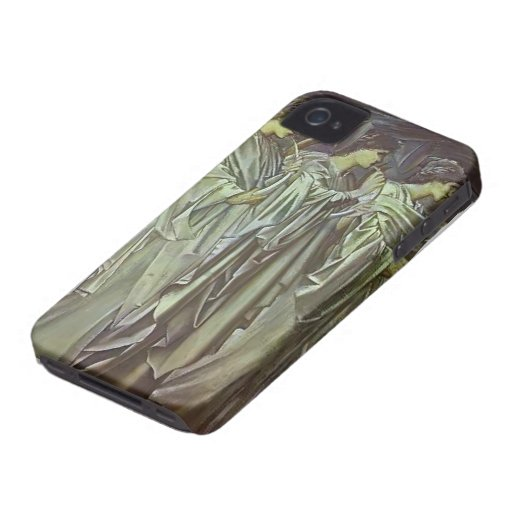 Edward Burne-Jones-The Challenge in the Wilderness iPhone 4 Covers