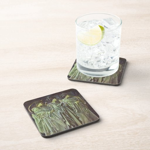 Edward Burne-Jones-The Challenge in the Wilderness Drink Coasters