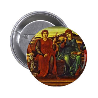 Edward Burne-Jones- The Hours Pinback Buttons