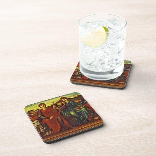 Edward Burne-Jones- The Hours Beverage Coasters