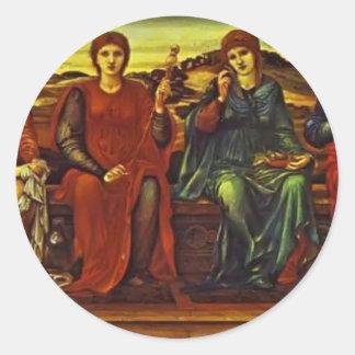 Edward Burne-Jones- The Hours Sticker