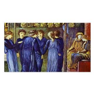 Edward Burne-Jones: The King's Wedding Business Card Template
